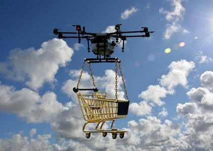 Students designing winged drones for long-range flights