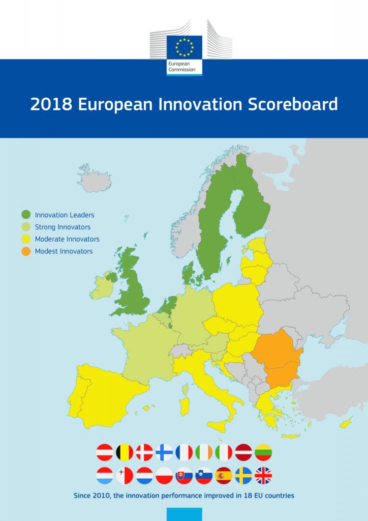 infographic innovation scoreboard 2018 map full size
