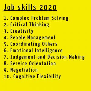 Job skills 2020