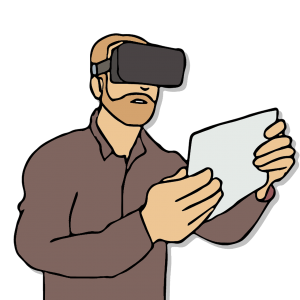 Virtual Reality environment with Eye-tracking to study the human mind